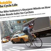 Outside Mag shares tough talk about cars and other ways to make U.S. better for biking