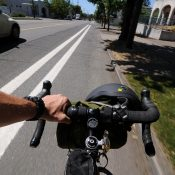 First look: Buffered bike lanes on Lombard in north Portland