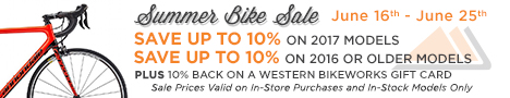 Great deals at the Western Bikeworks Summer Bike Sale on now