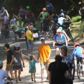 Gateway Green's bike park opens amid optimism, huge crowds