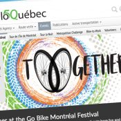Headed to Canada to cover the Go Bike Montréal festival