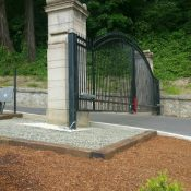 Here's the deal on new gate at River View Cemetery