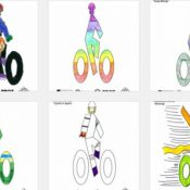 Here are the winning designs of Portland's 'Bike to Books' bike lane stencil contest