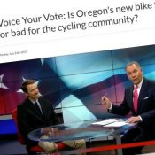 A TV station interviewed me about the bike tax. Here's what I said - (Video)