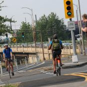 First Look: New bike signals unlock two-way protected bikeway on Naito