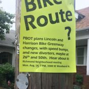 Neighbors will hear City plans to reduce driving on Lincoln-Harrison greenway tonight