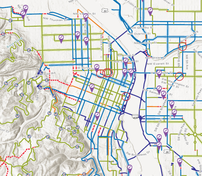 Portland\'s official city bike map is now digital and ...