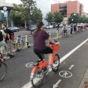 More than 100 line up to say goodbye to Better Naito and call for permanent protected bike lanes