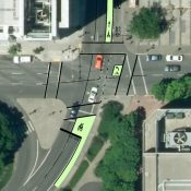 Bike box, green lane and smooth pavement coming to SW Main
