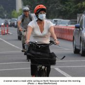 Ash from Eagle Creek Fire adds to poor air quality in Portland: Is it OK to ride?