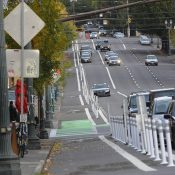 First look: New protected bikeway on SE Morrison