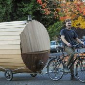 Introducing the SaunaVelo: Portland's mobile, bike-powered warming hut
