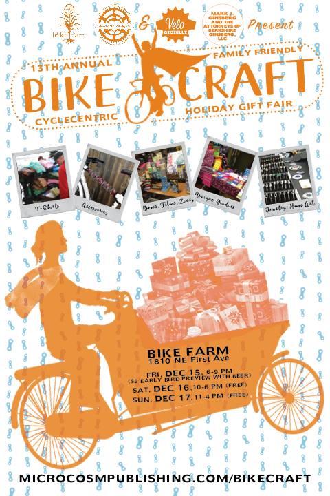 Bikecraft holiday gift fair for Holiday craft fairs portland oregon