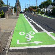 PBOT adds bike lanes, crosswalks to tricky SE Holgate intersection