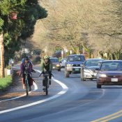 Initial impressions of new bikeway striping on N Willamette Blvd