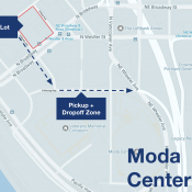 Uber announces new staging lot and pickup/dropoff zones at Moda Center