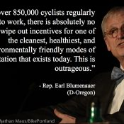 """Outrageous"" to repeal tax break for 850,000 U.S. bicycle commuters, Rep. Blumenauer says"
