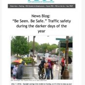 """Lo and behold: An American city just focused their """"be seen"""" message on drivers"""