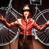 A one-woman show about bikes, played on bikes, is coming to Portland