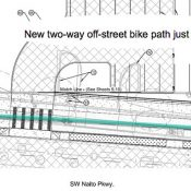 Open house will be first chance to weigh in on major bikeway upgrades on SW Naito Parkway