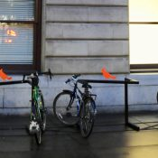 The bike parking at Portland City Hall is really bad