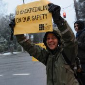 Protestors make show of force against ODOT's 'unnecessary' removal of 26th Avenue bike lanes