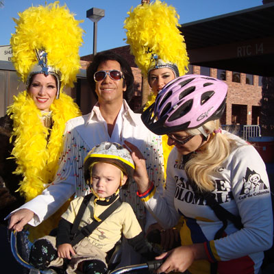 With Elvis at Viva Bike Vegas 2008