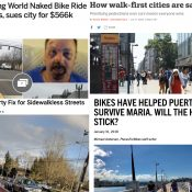 The Monday Roundup: Myopic marketing, wheelchair biking, pedaling protest, and more