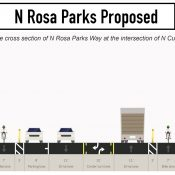 City plans to add protected bike lanes (and more) to North Rosa Parks Way