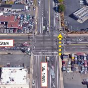 An auto user killed a woman who was walking legally across SE Stark and 148th today