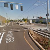 Bicycle rider involved in collision with a MAX train in southeast