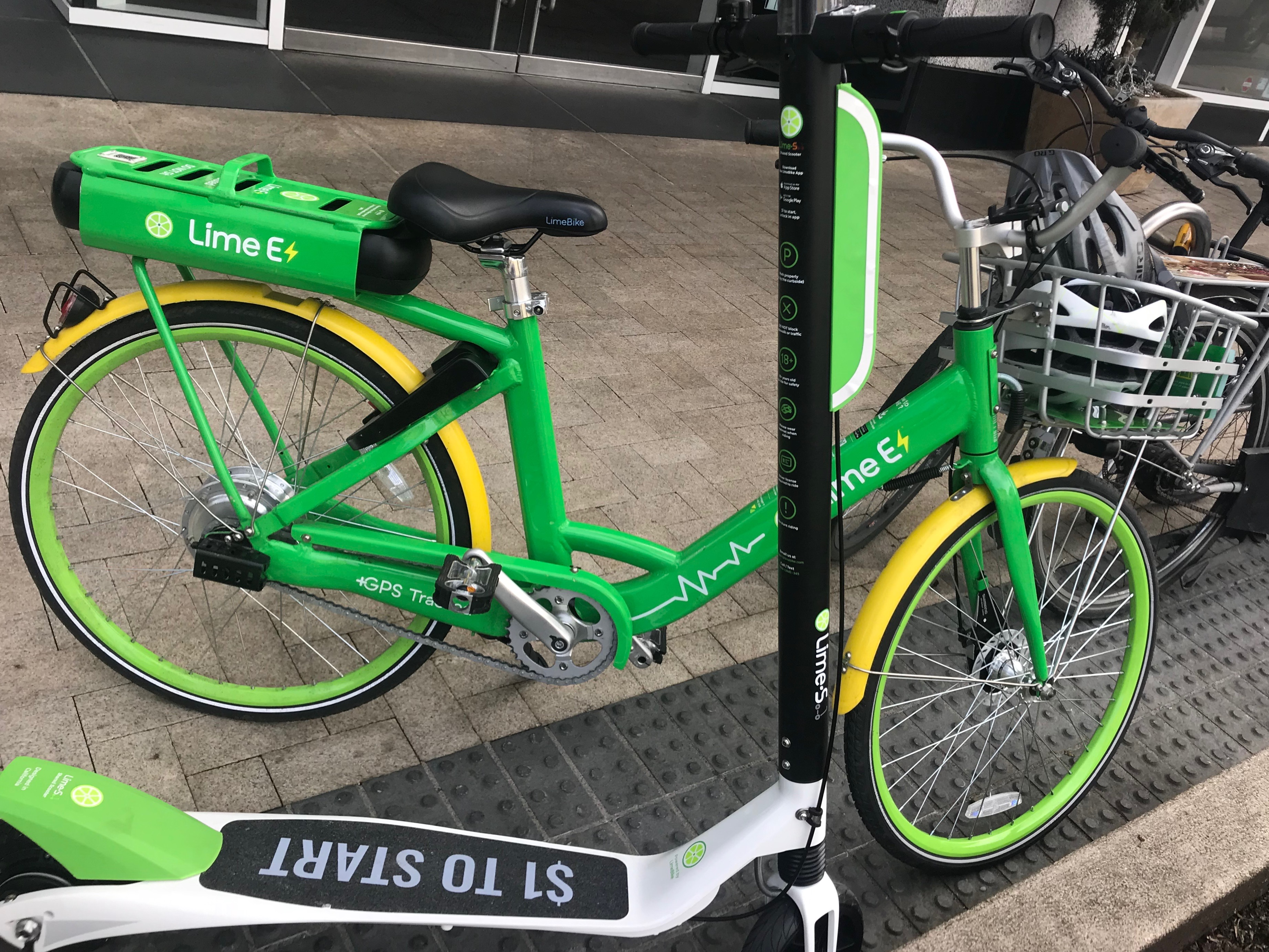 A test ride of LimeBike's dockless electric vehicles - BikePortland org