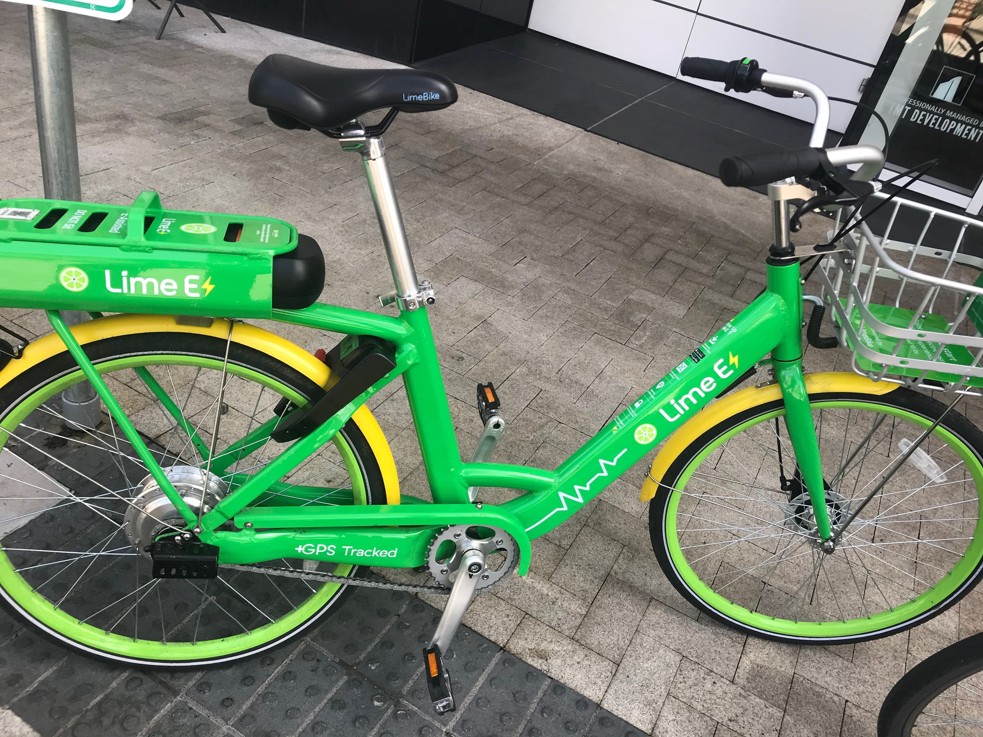 a test ride of limebike 39 s dockless electric vehicles. Black Bedroom Furniture Sets. Home Design Ideas