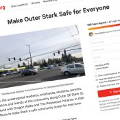 Petition presses Commissioner Saltzman for immediate help on deadly outer SE Stark Street