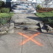 "Lincoln-Harrison project supporters find ""X"" spray-painted outside homes"