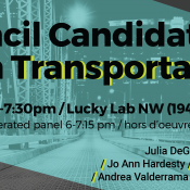 Your City Council Candidate Transportation Forum primer