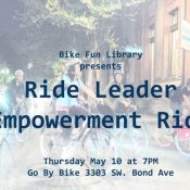 The Bike Fun Library is real! And there's a ride tonight to kick it off