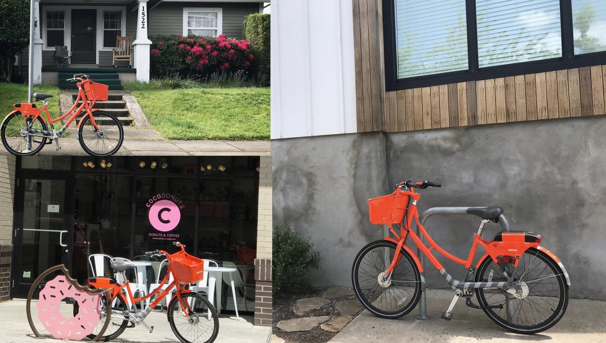 These Users Would Usually Been Fined 2 For Parking Here It S Fun To See So Many Biketown Bikes Parked All Over Town Photos J Maus Bikeportland