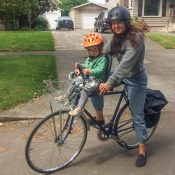 Family biking profile: Ali Reis and her daughter Lark