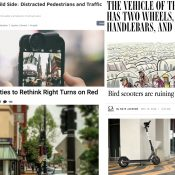 The Monday Roundup: The truth about distracted walking, scooter lovers and haters, the CIA's 3D-printed bike, and more