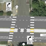 PBOT proposes more robust median at N Rosa Parks and Villard