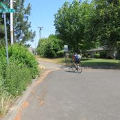 How to find the Highway 26 bike path from the Sunset Transit Center