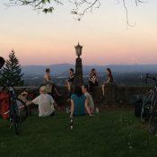 Bikin Betties Pedalpalooza sunset Rocky Butte picnic!