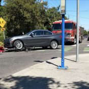 Man and six-year-old son injured in crash crossing NE 33rd on a neighborhood greenway