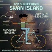 Sunset Ride - (Friends on Bikes)