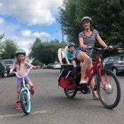 Family biking profile: Sara Schooley is sure you'll like e-bikes too
