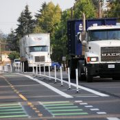 Portland's latest protected bikeway goes through an industrial zone on city's northern edge