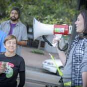 Rally shows support for protected bikeways and a permanent Better Naito
