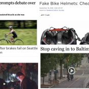 The Monday Roundup: E-bike dangers, fake helmets, all-powerful Bike Lobby, and more