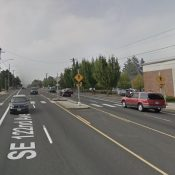 Man and young child hit while crossing SE 122nd at Midland Library